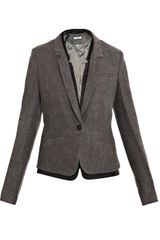 J Brand Zooey Leather Trim Jacket - Lyst