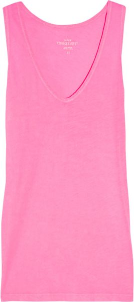 J.crew Vintage Cotton Tank in Pink - Lyst