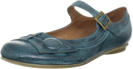 Miz Mooz Womens Dulce Mary Jane Flat in Blue - Lyst