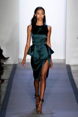Peter Som Fall 2012 Silk Satin Peplum Evening Dress - Lyst