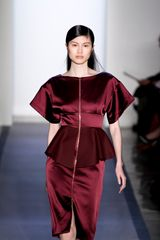 Peter Som Fall 2012 Peplum Detail Evening Dress in Red - Lyst