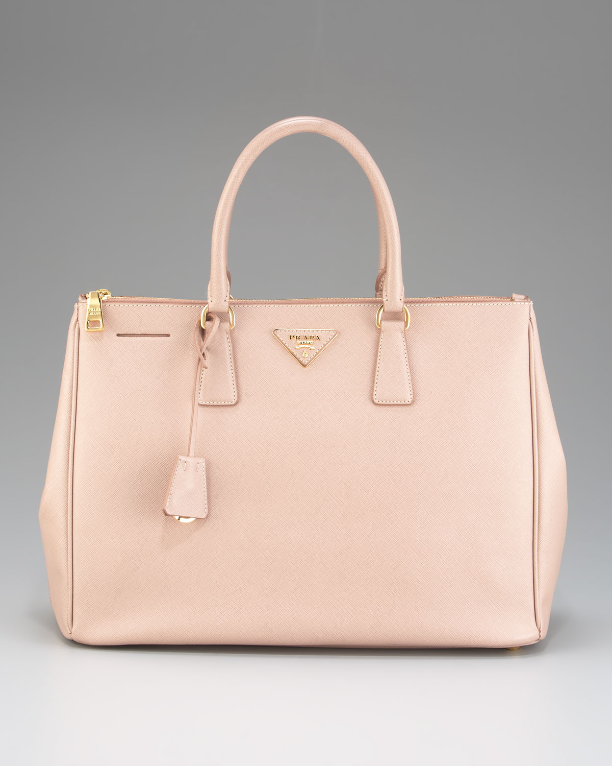 760734e45cb6 Lyst - Prada Saffiano Lux Executive Tote in Natural