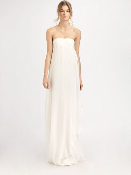 Rachel Zoe Elle Empire Petal Gown in White (ivory) - Lyst