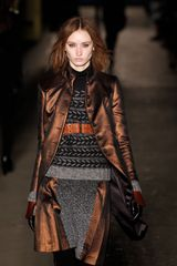Rag & Bone Fall 2012 Herringbone Pattern Skirt With Leather Pleats - Lyst
