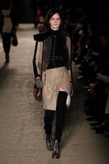 Rag & Bone Fall 2012 Brown Leather Shoulder Bag With Fur Details - Lyst