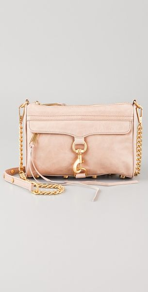 Rebecca Minkoff Mini Mac Bag in Pink (taupe) - Lyst