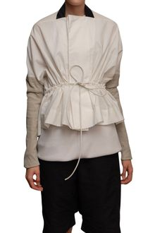 Rick Owens Short Jacket with Leather Sleeves - Lyst