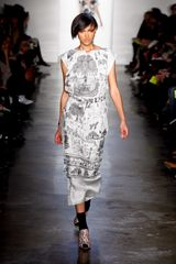 Suno Fall 2012 Illustrated Maxi Dress - Lyst