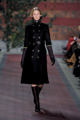 Tommy Hilfiger Fall 2012 Button Detail Trench Coat  - Lyst