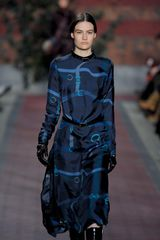 Tommy Hilfiger Fall 2012 Silk Dress with Equestrian Belts Details - Lyst