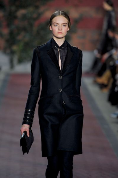 Tommy Hilfiger Fall 2012 Tailored Coat with Epaulettes in Black - Lyst