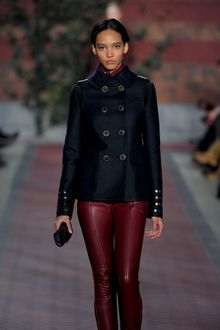 Tommy Hilfiger Fall 2012 Pea-Coat with Epaulettes - Lyst