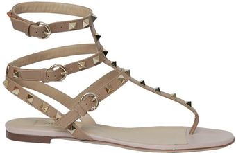Valentino Rockstud Leather Sandal - Lyst
