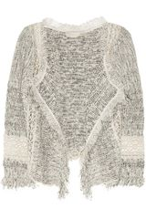 Vanessa Bruno Fringed Open-Knit Cotton-Blend Cardigan
