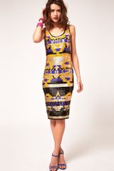 ASOS Collection Asos Midi Dress in Mex Tex Sequin