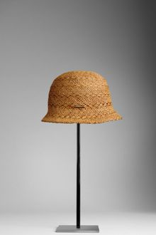 Burberry Cross Stitch Woven Hat
