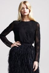 Jason Wu Sibyl Lace-applique Blouse - Lyst