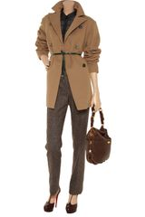 Jil Sander Doublebreasted Wool Coat in Brown - Lyst