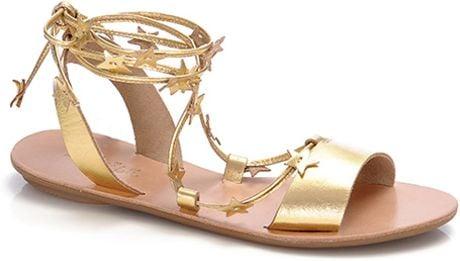 Loeffler Randall Starla Plank Sandal in Gold