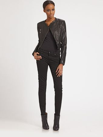 Mackage Cropped Leather Jacket - Lyst