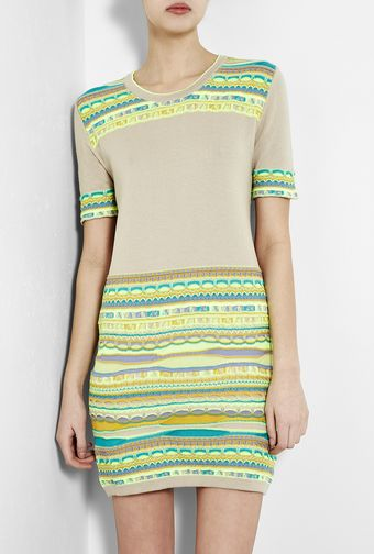 Mw Matthew Williamson Multi Stripe Jacquard Knit Dress - Lyst
