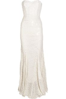 Rachel Gilbert Leticia Sequined Silk Gown - Lyst