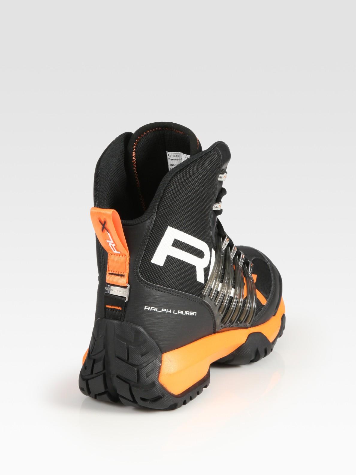 Rlx Ralph Lauren Abridge Nylon Boot In Black For Men Lyst