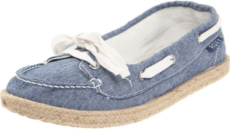 Roxy Roxy Womens Ahoy Jute Boat Shoe in Blue - Lyst
