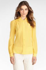 Tory Burch Angelique Silk Blouse - Lyst
