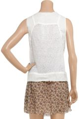 Vanessa Bruno Sheer Linen Top in White - Lyst