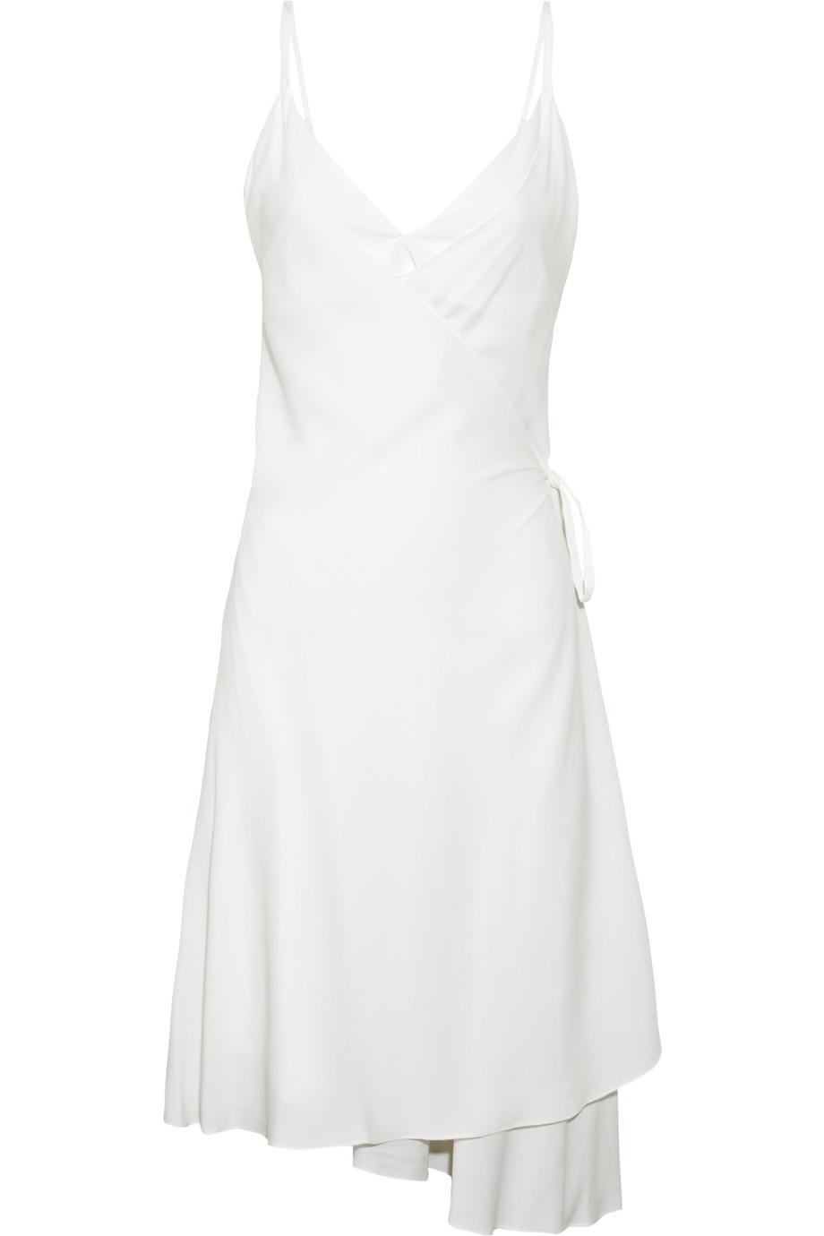 Lyst Vanessa Bruno Wrap Around Silk Dress In White