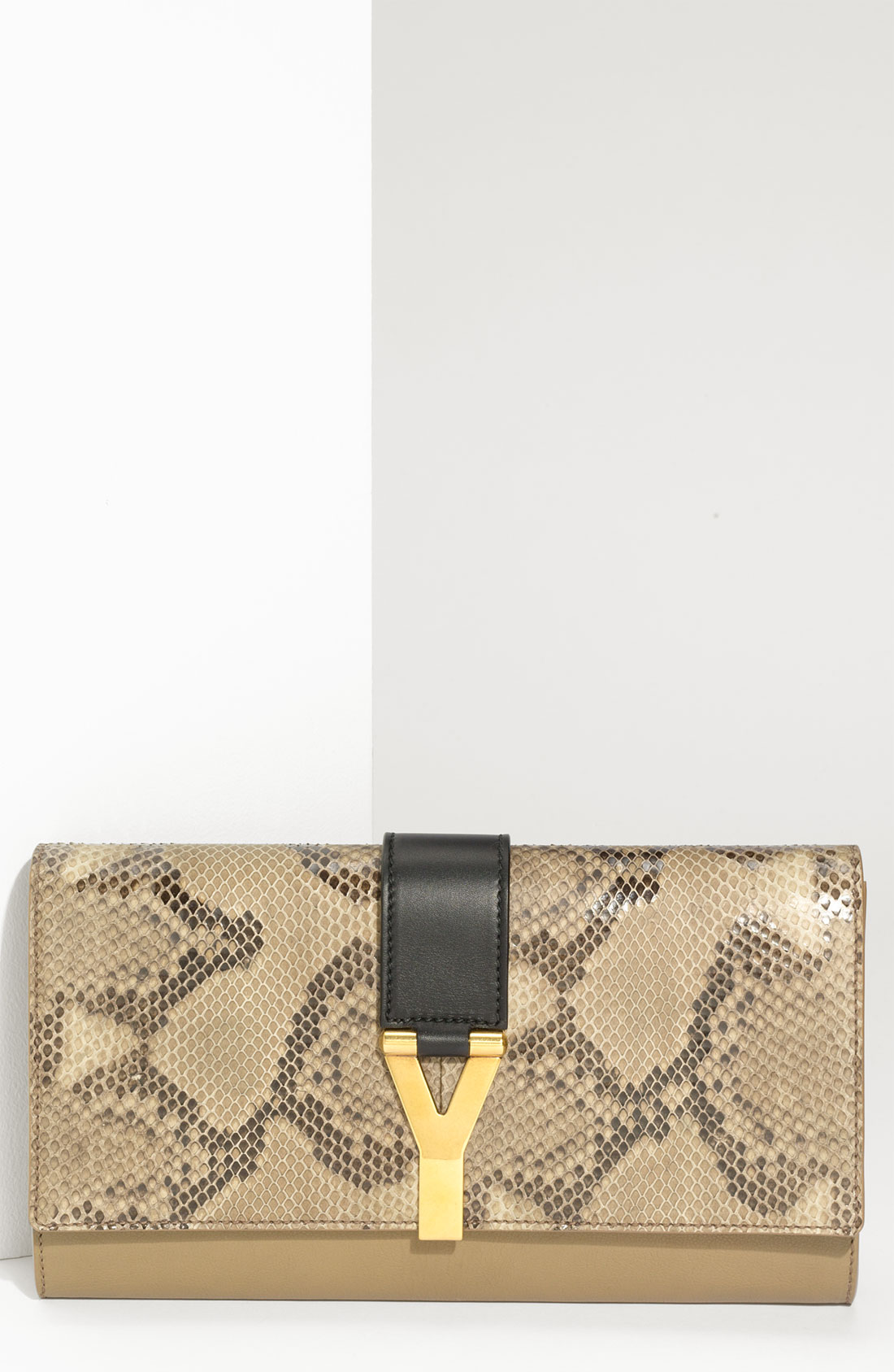 ysl cabas chyc for sale - yves saint laurent python chyc clutch, blue yves saint laurent bag