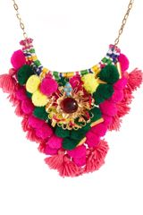 ASOS Collection Asos Mex Tex Large Pom Pom Necklace