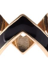 Asos Collection Asos Pack Of Six Enamel Zig Zag Rings in Multicolor (multi) - Lyst