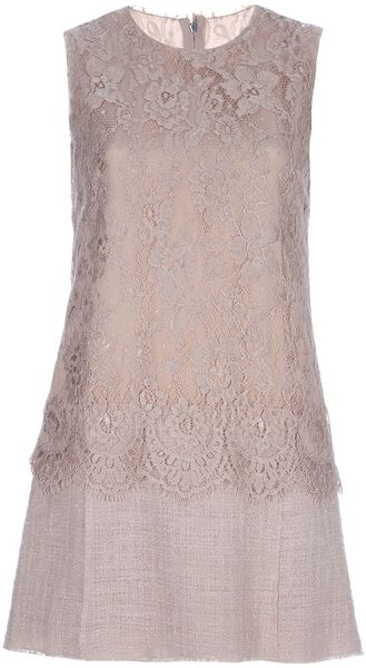 Dolce & Gabbana Lace Detail Dress - Lyst