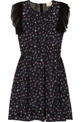 Girl. By Band Of Outsiders Capucine Chiffon-trimmed Printed Silk Dress - Lyst