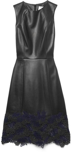 Jason Wu Leather Lace Sheath - Lyst