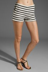 Juicy Couture Breton Stripe Shorts in Black/cream - Lyst