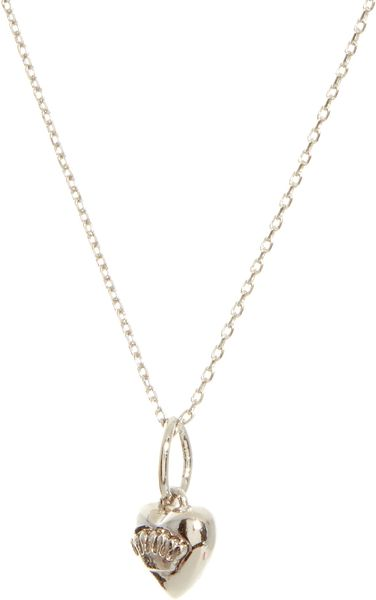 Juicy couture necklace in silver lyst for Juicy couture jewelry necklace