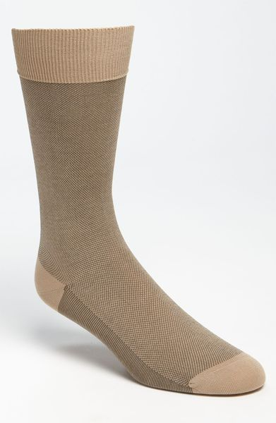 Pantherella Birdseye Socks in Khaki for Men (light khaki) - Lyst