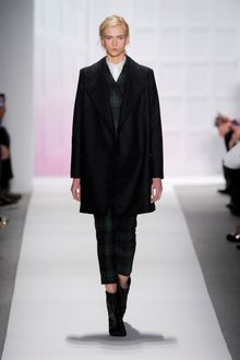 Tibi Fall 2012 Dark Green Plaid Tailored Suit With Double Breasted Jacket And Cropped Pants - Lyst