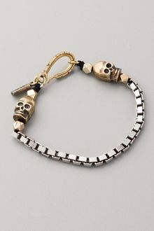 Vanessa Mooney Box Chain Skull Bracelet - Lyst