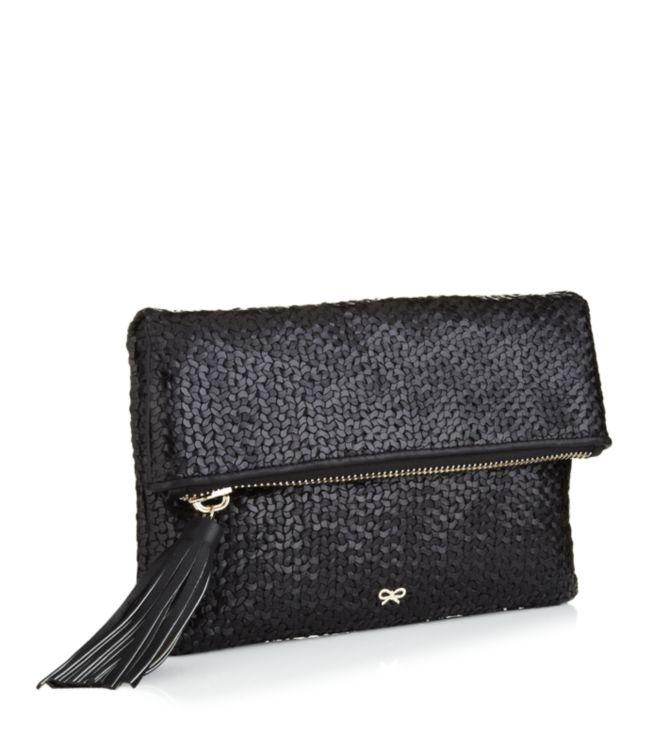 Anya Hindmarch Huxley Clutch Bag in Black - Lyst 9488e3ecdb4f