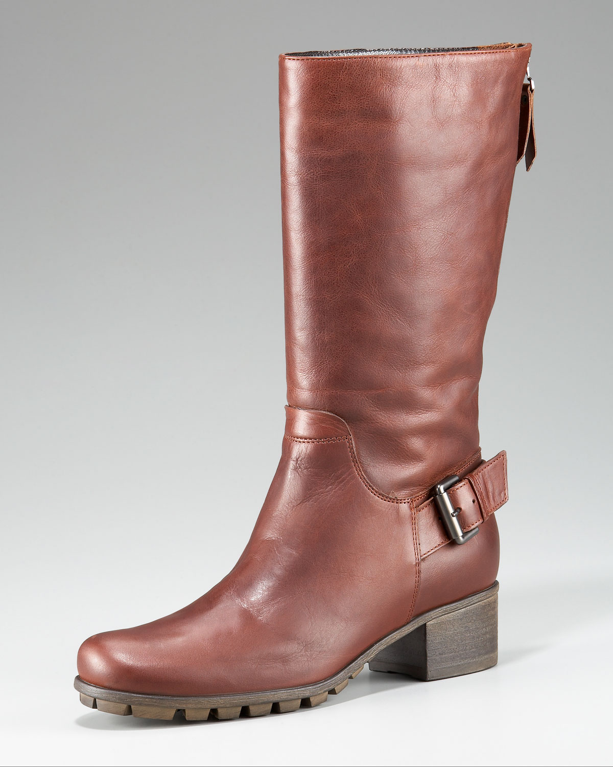 aquatalia by marvin k weatherproof leather boot in brown