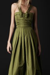 Burberry Prorsum Bow Front Silk Dress - Lyst