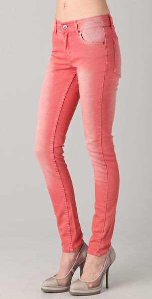 Cheap Monday Tight Skinny Jeans in Red - Lyst