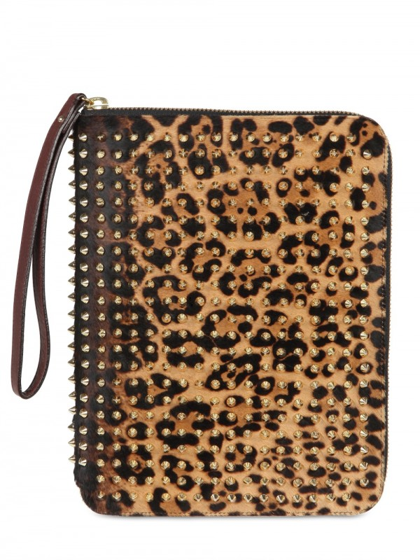 Lyst Christian Louboutin Cris Ipad Case Pony Spike Tech
