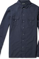 Dolce & Gabbana Slim-fit Washed Cotton Shirt - Lyst