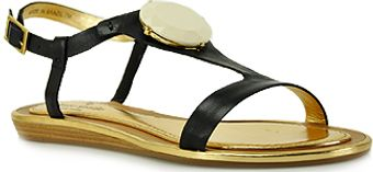 Kate Spade Ippolita - Black Leather Gem Sandal - Lyst