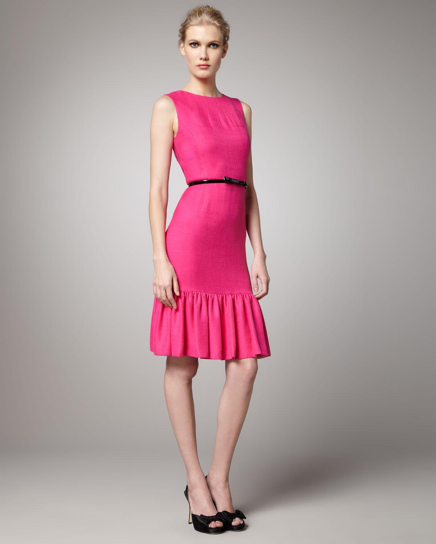 520e172e97ff Kate Spade Siren Ruffle-skirt Dress in Pink - Lyst